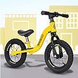 YSCYLY Sin Pedal-Caminar Entrenamiento De La Bicicleta,Coche de Juguete de aleación de Aluminio de 12 Pulgadas y 14 Pulgadas,La Rueda De Goma Inflable