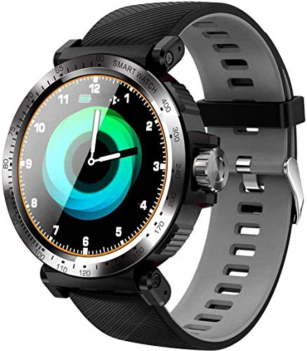 Reloj deportivo inteligente para mujeres y hombres, Android Fitness Trackers al aire libre Senderismo Correr Reloj de pulsera digital impermeable Bluetooth Actividad Tracker Smart-Red-Grey