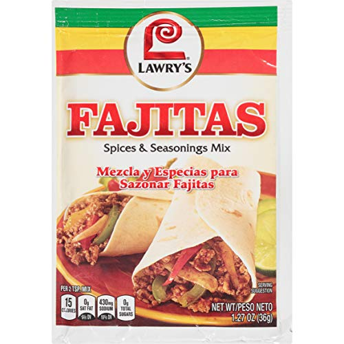 Lawry's Fajita Seasoning Mix,1.27 Ounce (Pack of 12)