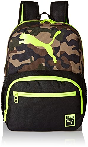 PUMA Boys' Little Backpacks, Black/Yellow, Youth