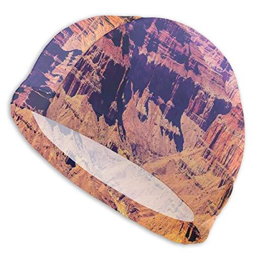 GUUi Zwemmuts Elastische Zwemmuts Duiken Caps, Grand Canyon In Arizona met Base Elevations Noord-Amerikaanse Sublime Tribal Landschap, Voor Mannen Vrouwen Jeugden
