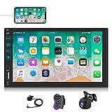 NHOPEEW Autoradio 2 din con Apple Carplay / Android Auto, radio touchscreen da 7 pollici con Bluetooth, stereo 2 din con FM / MIC/ Telecamera di retromarcia