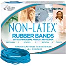 Alliance Rubber Company Inc. Antimicrobial Rubber Bands, Size 33, 3-1/2 x 1/8 Inches, Cyan Blue, 1/4 Pound Box (42339)