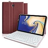 Keyboard Case for Galaxy Tab S4 10.5, Slim Cover, Smart Auto Sleep-Wake,Detachable Wireless Bluetooth Keyboard for Samsung Galaxy Tab S4 10.5-Inch (SM-T830 T835 T837) (T830-Red)