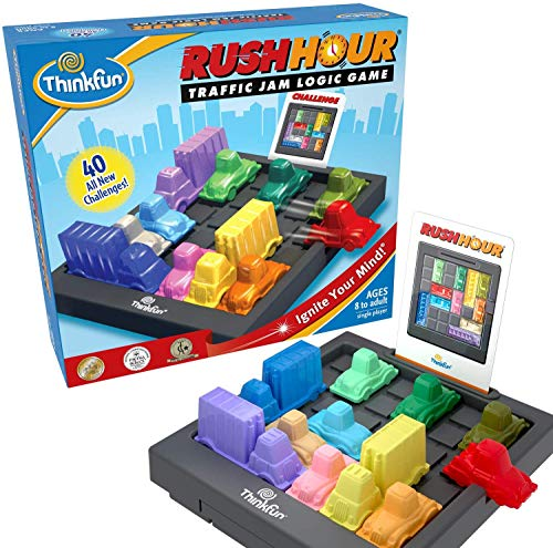 ThinkFun Rush Hour Traffic Jam Brain Game and STEM Toy for Boys and Girls Age 8 and Up – Tons of Fun With Over 20 Awards Won International Bestseller for Over 20 Years