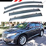 Fits for 2008-2017 Toyota Venza Clip on Type Smoke Tinted Door Window Visor...