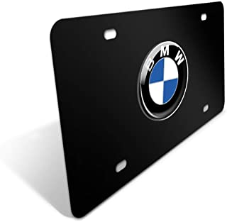 CAR FANS Heavy Duty 3D Stainless Steel License Plate Cover for BMW,All for BMW Models,Personalize Your BMW License Plate Frame (Black)