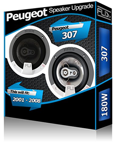 Kit haut-parleurs de porte arrière pour Peugeot 307 13 cm 180 W
