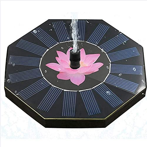 Wasserpumpe Solarpanel Birdbath 1W schwimmender Teich Geysir achteckige Pumpe Pumpe für Vogelbad Aquarium Teich Pool Garten und Rasen schöne Dekoration Kein Strom erforderlich