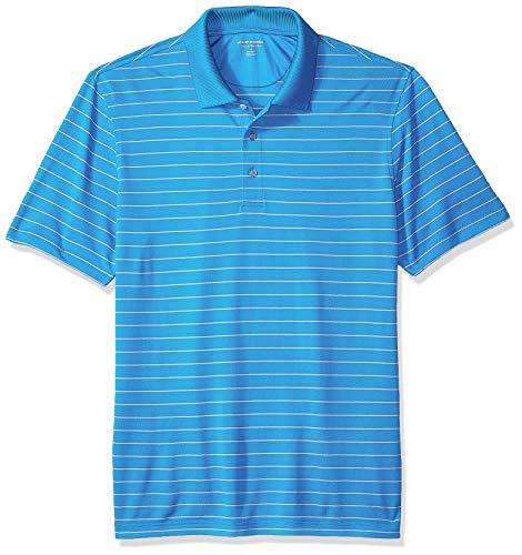 Amazon Essentials Men's Regular-Fit Quick-Dry Golf Polo Shirt, Electric Blue Stripe, X-Large