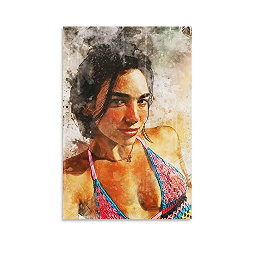yunzhen Abstract Bikini Dua Li-pa Singer Poster Decorative Oil Painting Canvas Wall Art Living Room Posters Bedroom Painting 8×12inchs(20×30cm)