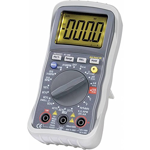 Voltcraft AT-200 Hand-Multimeter digital KFZ-Messfunktion CAT III 600V Anzeige (Counts): 4000
