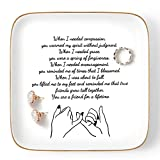 Titanape Friend Gifts for Women Birthday, Trinket Ring Dish ' You are a friend for a lifetime ' Inspirational Friendship Gifts for Women Friend, Sister, Her, BFF, Best Friends, Coworkers, Female
