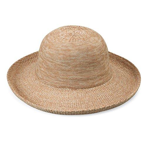 Petite Victoria Sun Hat – Ultra-Lightweight, Broad Brim, Petite Style, Mixed Camel
