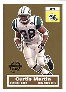 2005 Topps Turn Back the Clock #7 of 22 Curtis Martin New York Jets