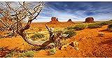 AWERT 36x18 inches Reptile Habitat Background Orange Desert Terrarium Background Durable Polyester Background