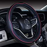 18 inch steering wheel cover (18'', Black Red)