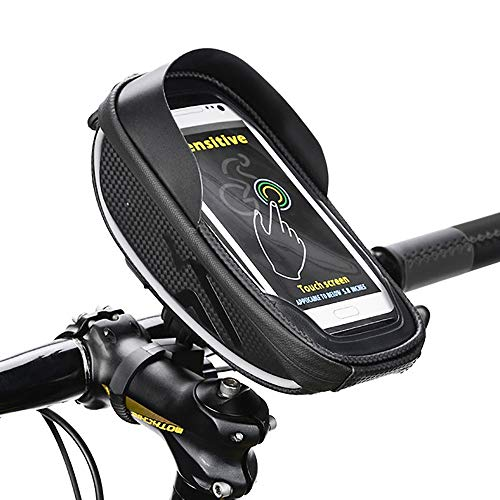 HZIH Bike Bag Top Tube Bicycle Front Frame Bag, Detachable Touch Screen Mobile Phone Bag Compatible 6.0in Mobile Phone,Best Cycling Mountain Bicycle Bag