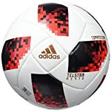 adidas FEF Competition Soccer Ball, Hombre, White/Solar Red/Black, 5