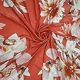 Chiffon/Georgette-Seide, weich, durchscheinend, florales
