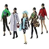 Ropa para 29cm Muñeca, 5 Conjuntos Moda Abrigo de otoño Vestidos Pantalones Zapatos Sombrero Rompevientos para 29cm Muñecas Accesorios Bebé Regalos (D)