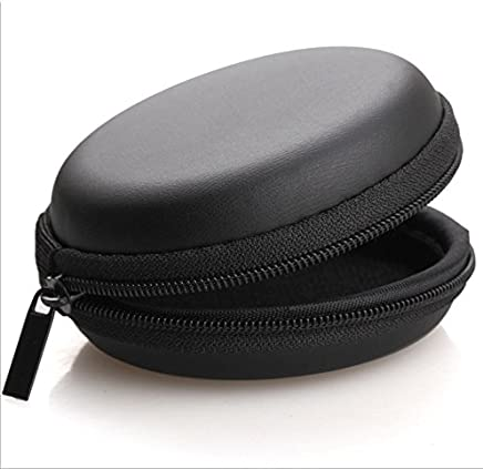 Protective Carry Case Cover Pouch for Earphones , Keys and Pen drives (Black)