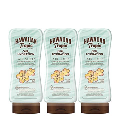 Hawaiian Tropic - Silk Hydration Air Soft After Sun Lotion Coconut Papaya 180 ml - Pack of 3