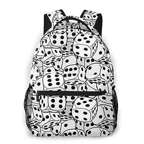 Laptop Rucksack Schulrucksack Würfelt Textur, 14 Zoll Reise Daypack Wasserdicht für Arbeit Business Schule Männer Frauen