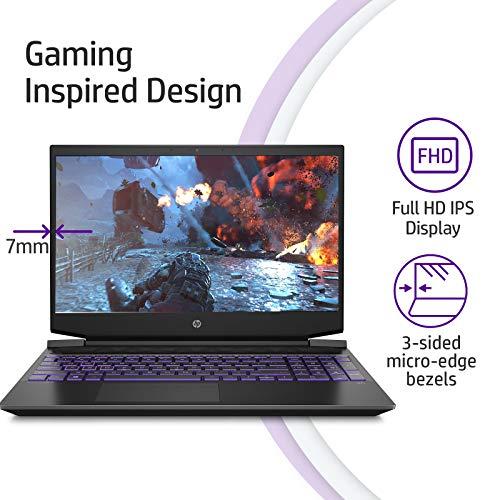 HP Pavilion Gaming 15.6-inch FHD Gaming Laptop (Ryzen 5-4600H/8GB/1TB HDD/Windows 10/NVIDIA GTX 1650 4GB/Shadow Black), 15-ec1021AX