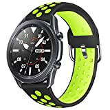 AOTVIRIS Compatible con 22mm Correa Galaxy Watch 3 45mm/Galaxy Watch 46mm/Gear S3 Frontier/Classic Silicona Banda Deportiva Pulsera para Huawei Watch GT Sport/GT 2 46mm/GT 2e/Ticwatch Pro