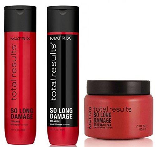 MATRIX TOTAL RESULTS So Long Damage Shampoo 300ml + Balsamo 300ml + Mask 150ml