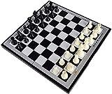 LBWARMB Pelotas futbolin Accesorios para el hogar Juego de ajedrez de Viaje magnético Juego de ajedrez Internacional con tesorero Plegable (Size : 8.8 * 8.4in)