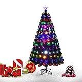 Goplus Brillante Albero di Natale Verde PVC con Stella di Natale e Tutti...