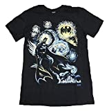 DC Comics Batman Starry Night T-Shirt, Black, Medium