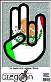 THE SHOCKER HAND - AUFKLEBER / AUTOAUFKLEBER - Decal Sticker 15cm außenklebend - schwarzer Umriss mit Fahne / Flagge - Mexico-Mexiko