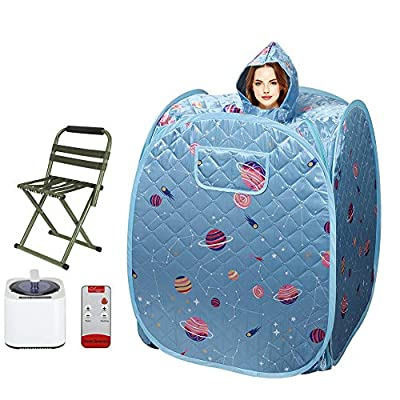 ETE ETMATE Portable Personal Steam Sauna SPA for Weight Loss Detox Therapy, Foldable Sauna Box with Steamer