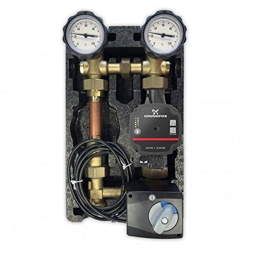 Oventrop Pumpengruppe m. Stellmotor Mischer Hocheffizientzpumpe Grundfos Alpha 1 L 25 60 180 Regumat M3-180 Anbindesystem DN25