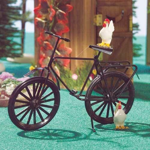 Dolls House métal noir bicyclette 1:12 pour maison de poupée 3805
