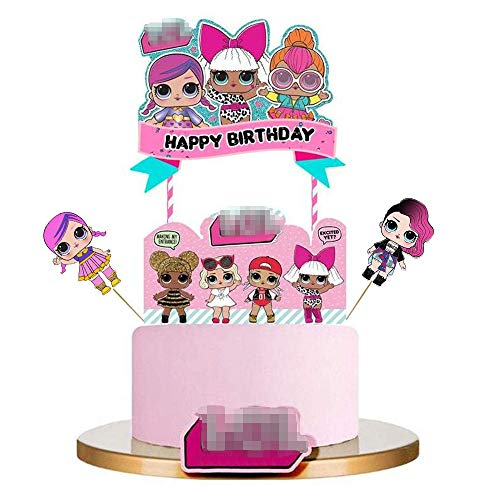 LOL Surprise Birthday Cake Topper Set