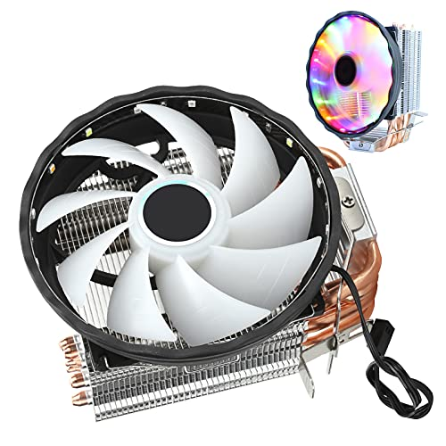 Enfriador de CPU, radiador de computadora con disipador de Calor Dual de 3 Pines RGB 6 Heatpipes para Intel/AMD
