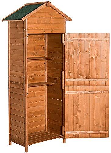 Almacenamiento cobertizo de jardín cobertizo al aire libre, caseta de madera, calidad duradera y de alta, es la adición perfecta a cualquier jardín,Wood color