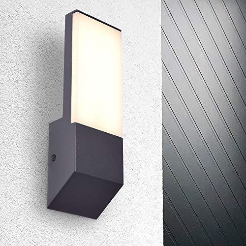 LED Aussenleuchte Wandleuchte warmweiß 3000K Fluter 9W IP54 schwarz modern PHOTON (ohne Sensor)