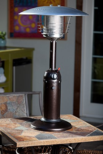 Fire Sense Hammer Tone Bronze Table Top Patio Heater
