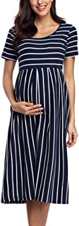BBHoping Women's Summer Casual Striped Maternity Dress...