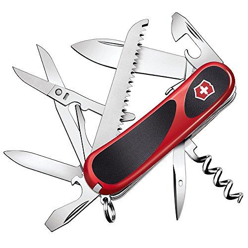 Victorinox Taschenmesser Evolution 17 (15 Funktionen, Feststellklinge, Holzsäge) rot/schwarz