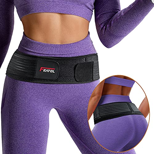 FEATOL Sacroiliac Hip Belt, SI Joint Belt for Women and Men That Alleviate Sciatic, Pelvic, Lower Back and Leg Pain, Stabilize SI Joint Brace Trochanter Belt Breathable and Comfortable Si Belt