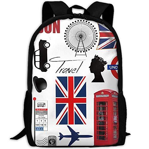 Backpacks,Impresionantes Bolsos De Londres Big Ben Soldier College, Cómodas Mochilas De Hombro para Adultos para Caminar, Viajar,43x28x16cm