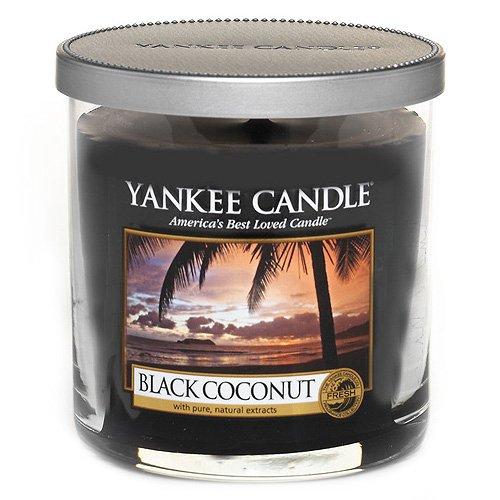 Yankee Candle vela de pilar pequeña, Coco negro, negro