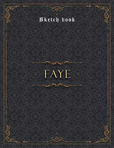 Sketch Book Faye Luxury Personalized Name Cover: Notebook for Drawing,...