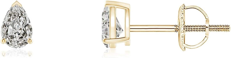ブランド激安セール会場 April Birthstone - Pear-Shaped Earrings Diamond Solitaire Stud ご予約品